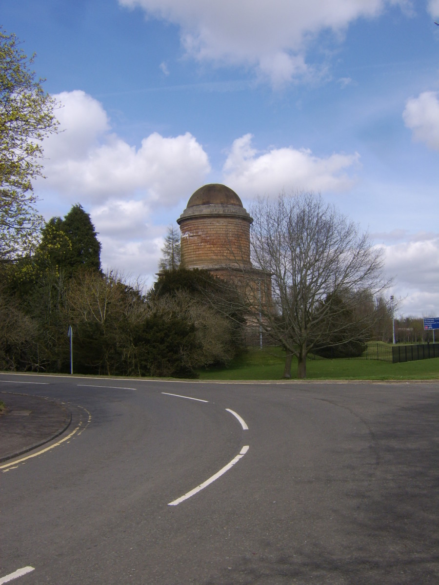 Approaching Hamilton Mausoleum from the direction of Low Parks Museum