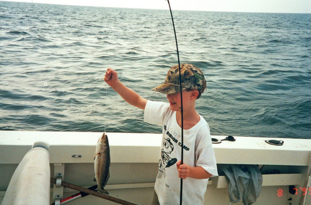 Kids learn how to fish for trout quickly.