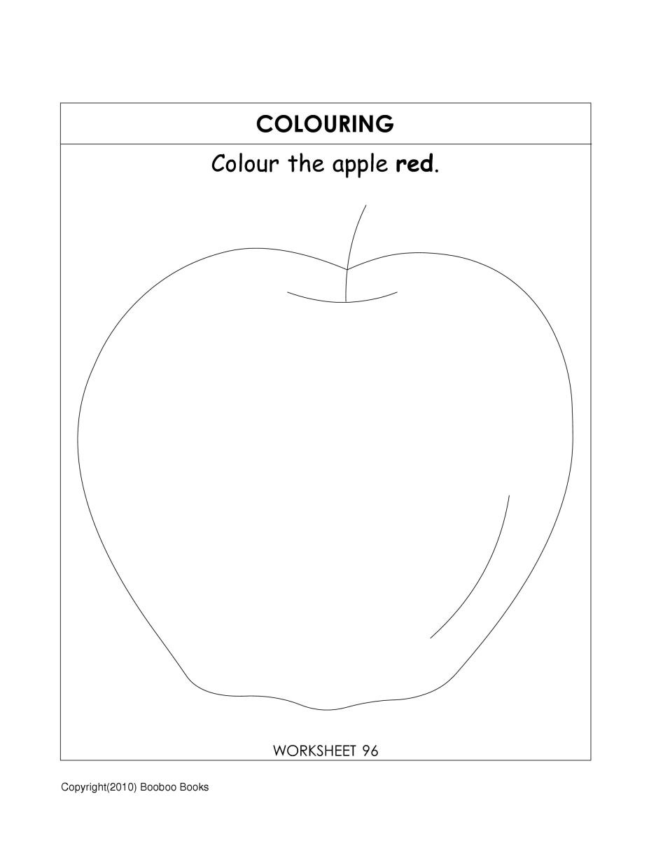 Teaching coloring - very simple coloring activity