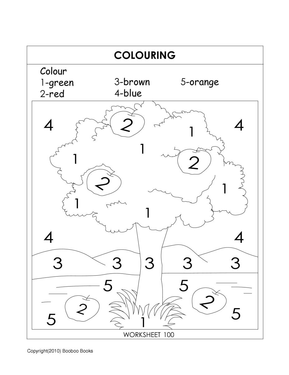 Coloring activity - teaching coloring