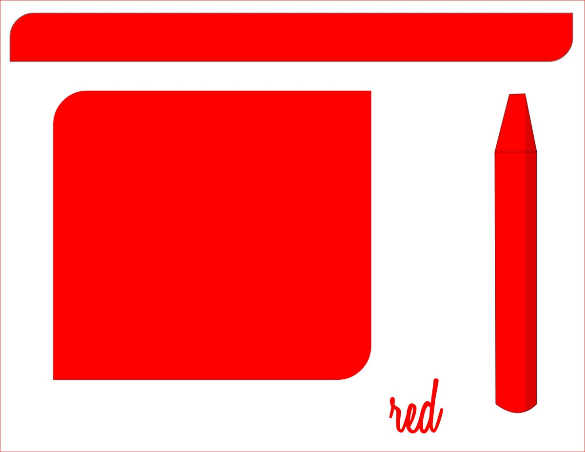 Teaching colors - red flashcard
