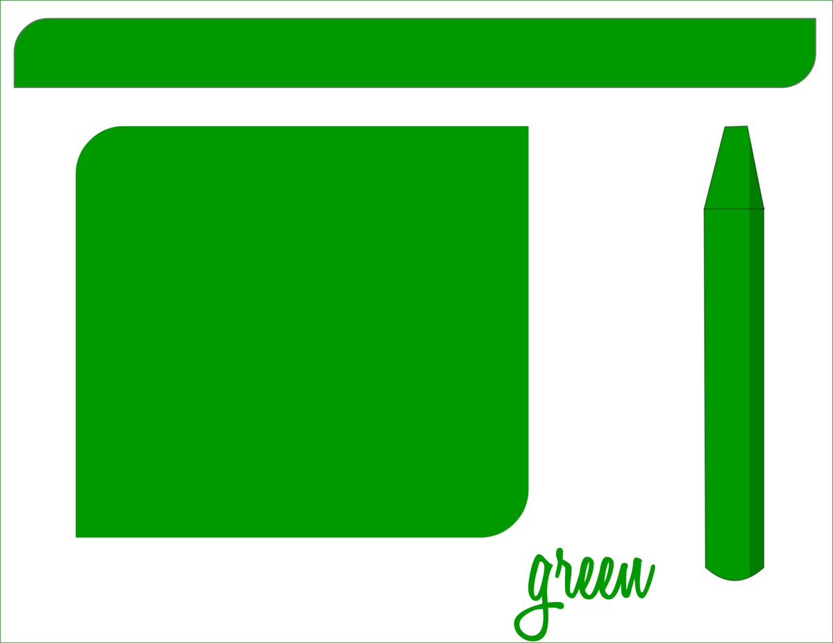 Teaching colors - green flashcard