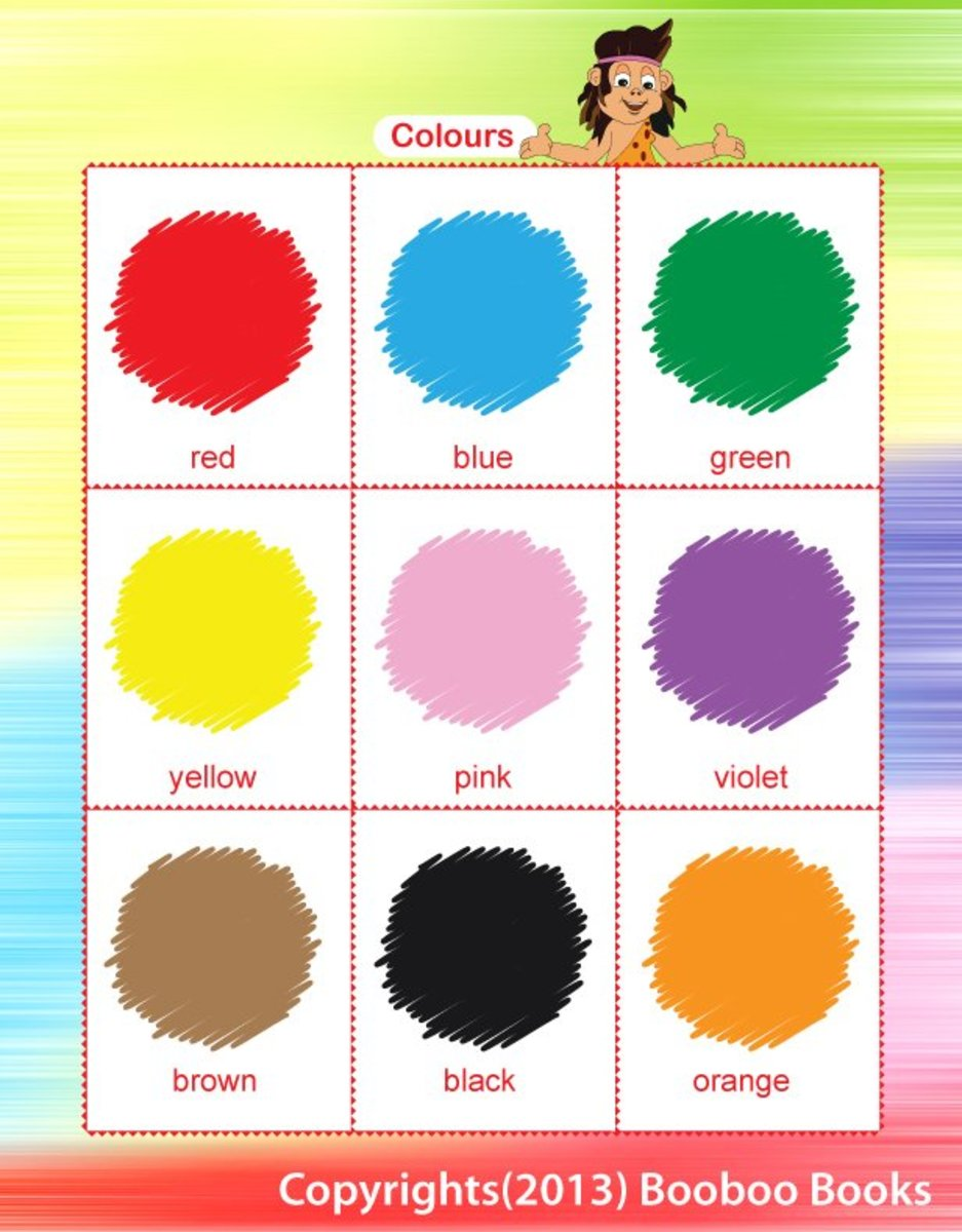 Teaching colors - a color chart