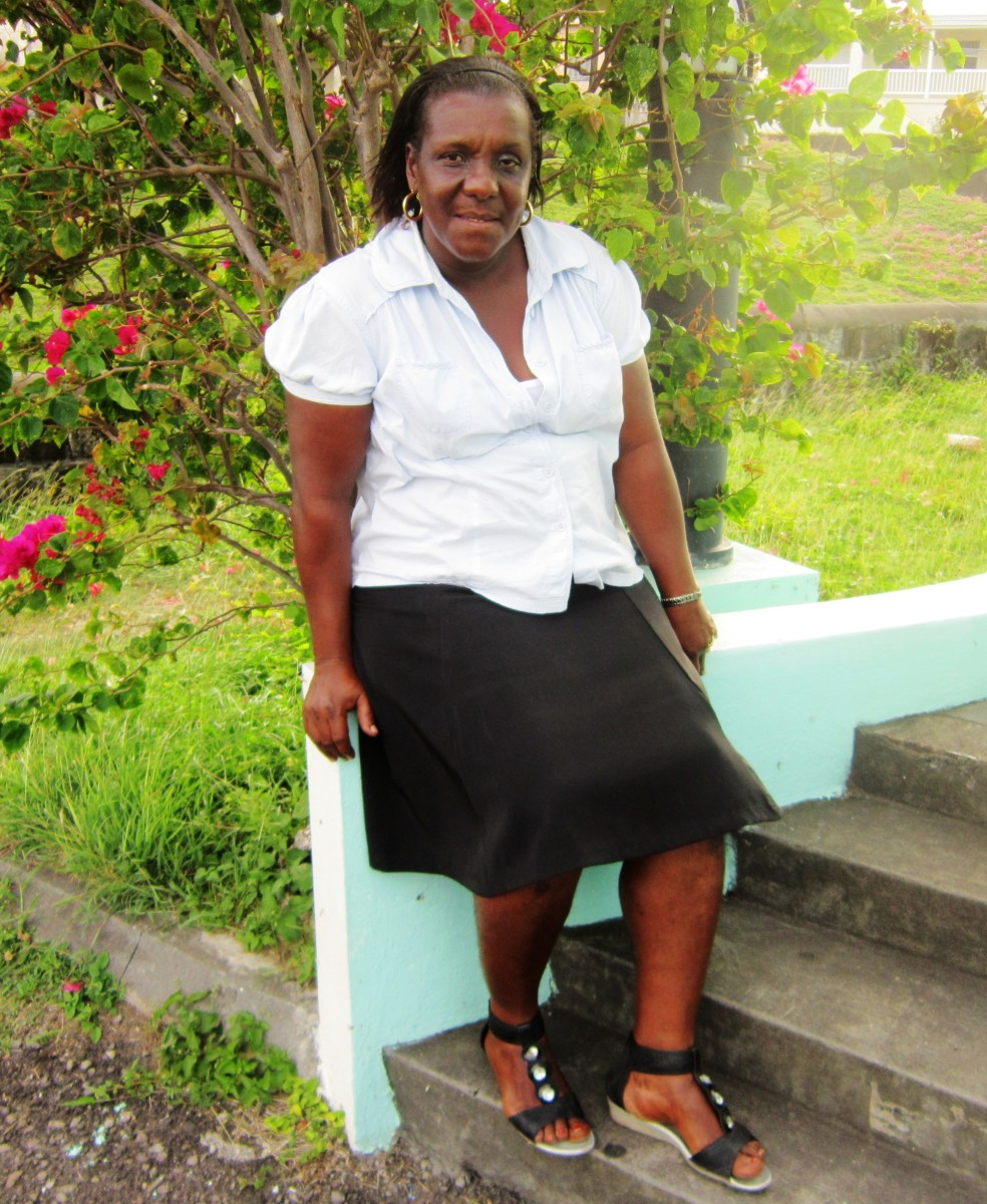 Kittitian Mother Is Human Transportation For Her College Son