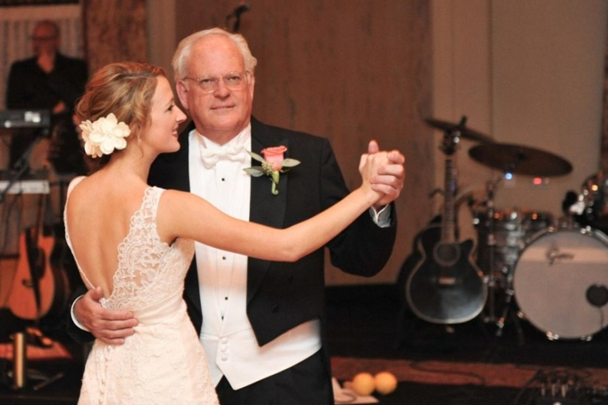 Father In Tuxedo Dancing With Bride