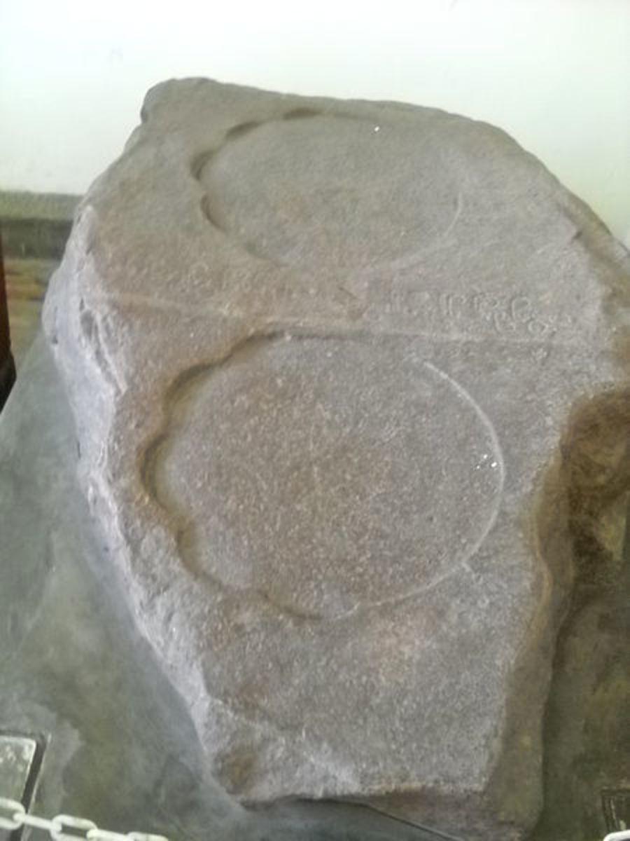 Prasasti Kebonkopi in Museum Sejarah Jakarta, Indonesia
