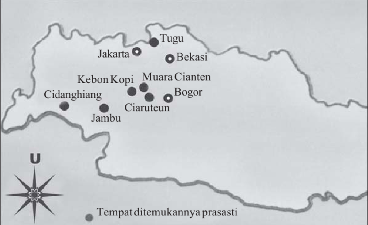 Tarumanegara Kingdom Prasasti Location