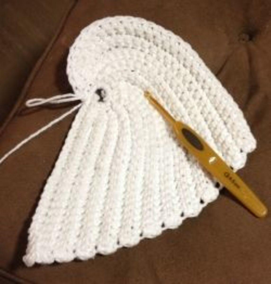 Angel Wing Dishcloth Free Crochet Pattern!