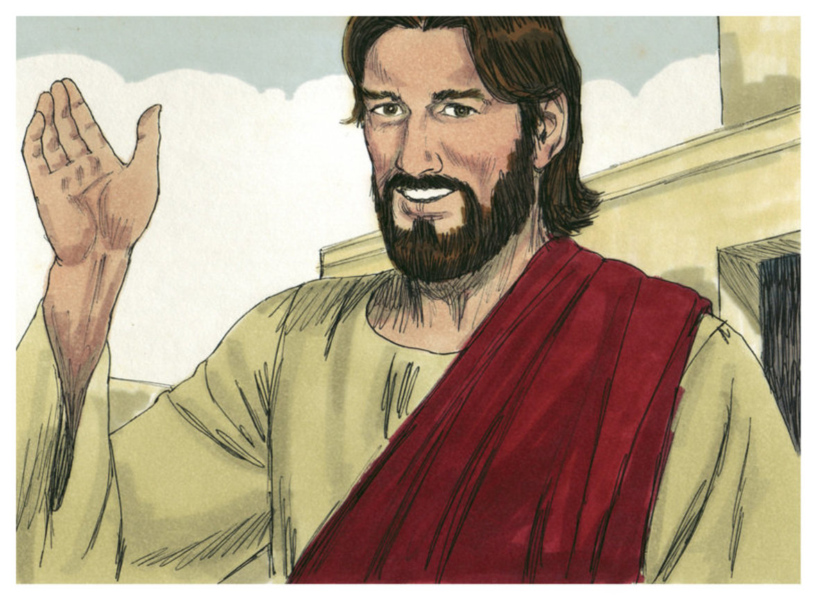 Jesus in Jim Padgett's drawings is illustrated as a bearded man.