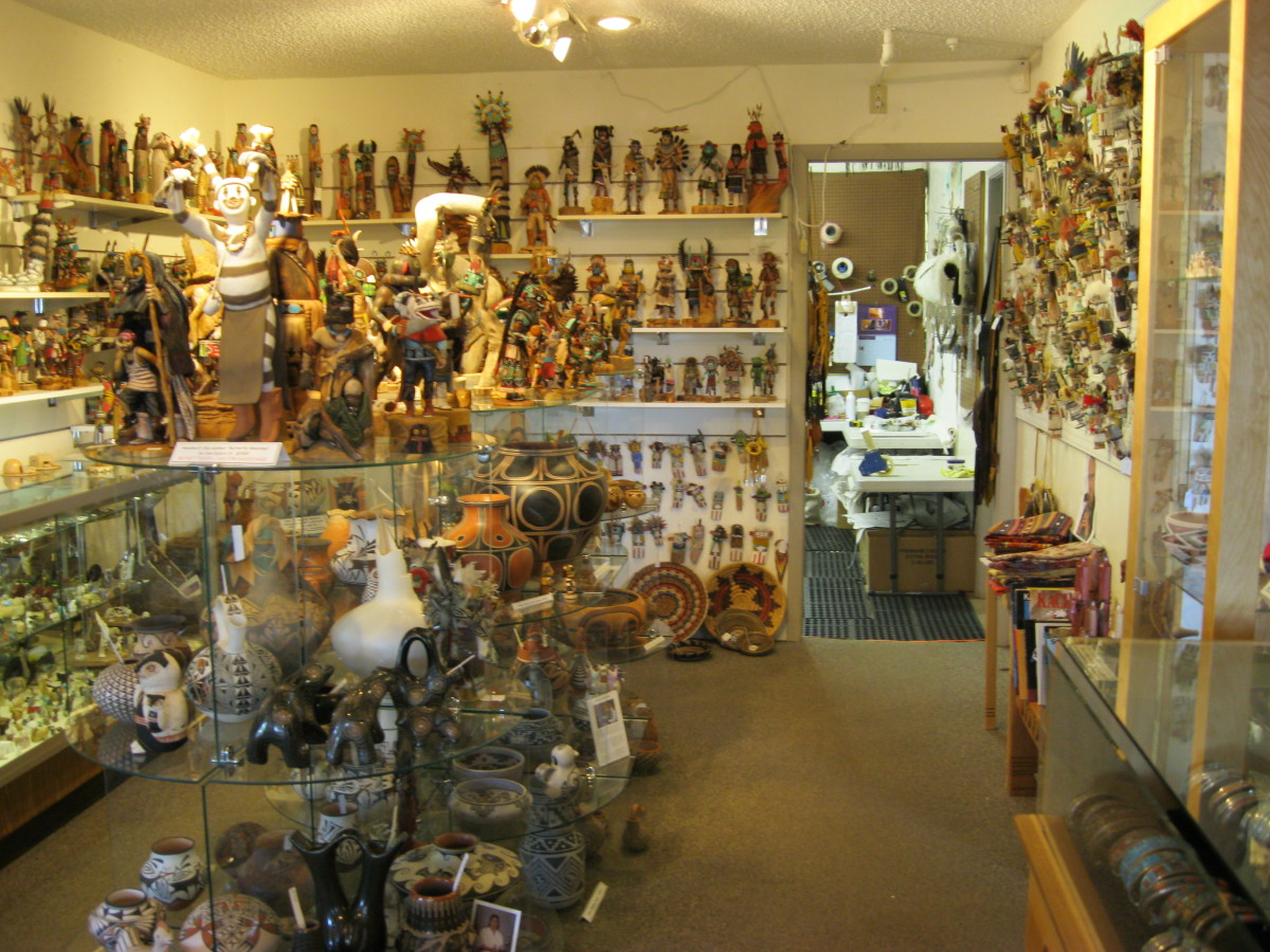 Kachina House has the largest selection of kachinas in Sedona by notable Native American artists.  Staff can supply a wealth of knowledge about type of kachinas and the carvers who make them.