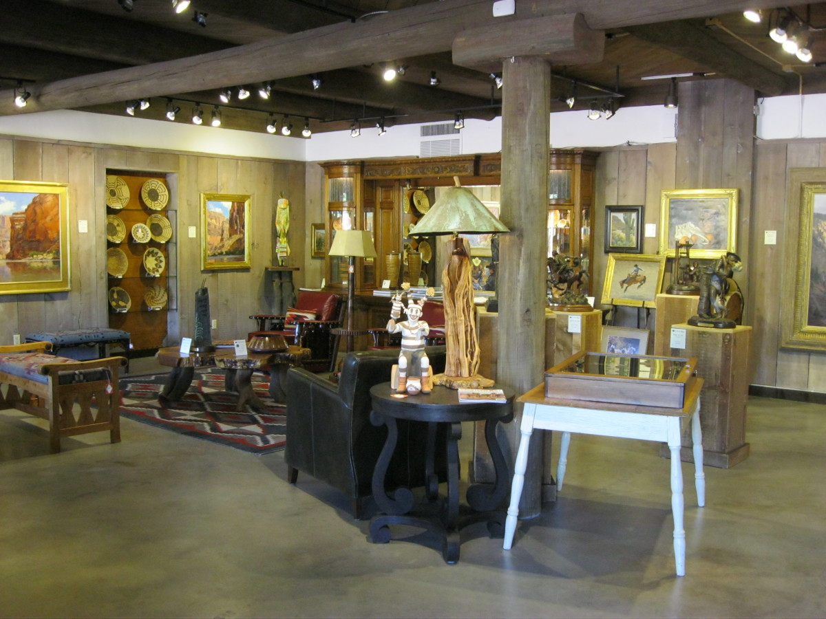 Garlands Collectors Room is located in the Garlands Rug Gallery and offers a wider variety of Southwestern items.