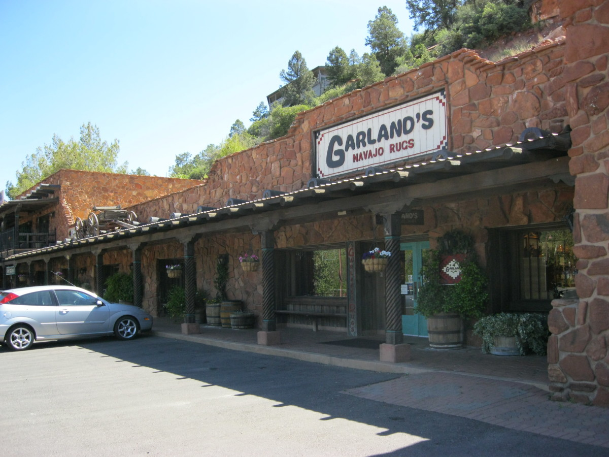 Garlands Navajo Rugs on Hwy 179 in Sedona has been in business since 1976 and offers quality Navajo rugs that are purchased directly from the weavers.  Best selection in Arizona.