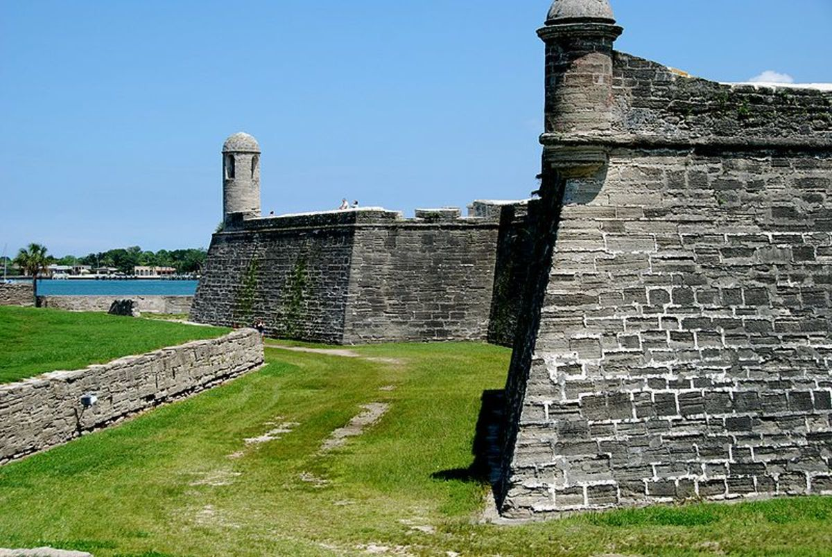 The North Wall Of The Fort Today.