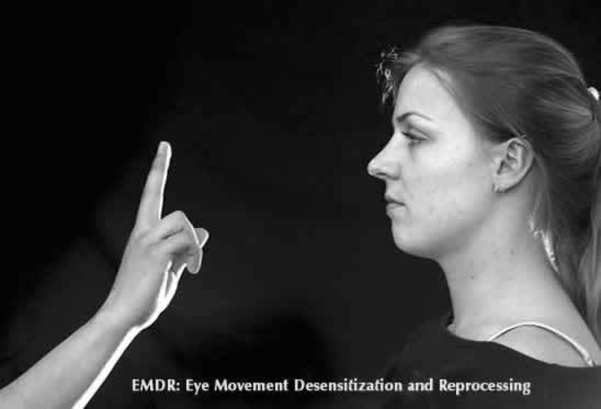 EMDR therapy can involve following hand movements, although this isn't the only option