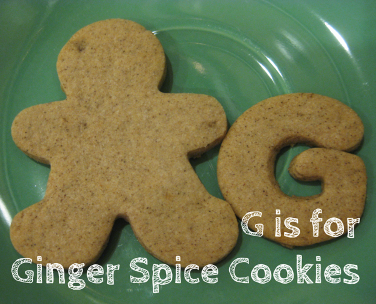 G is for Ginger Spice Cookies and Gingerbread Men!