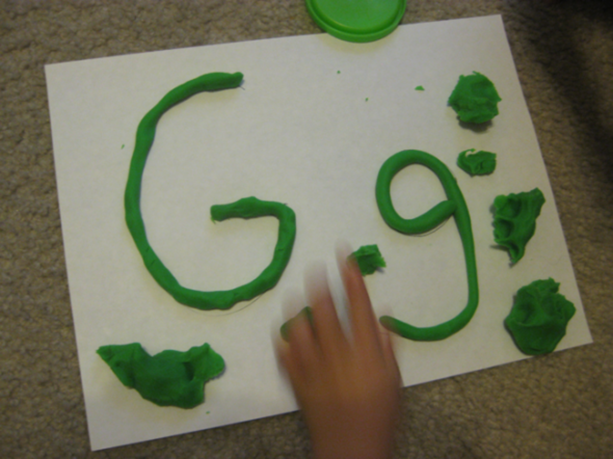 g is for green dough alphabet activities for kids
