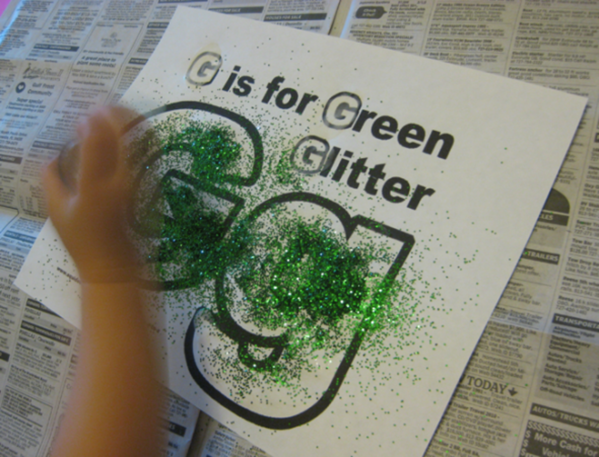 g is for green glitter alphabet activities for kids