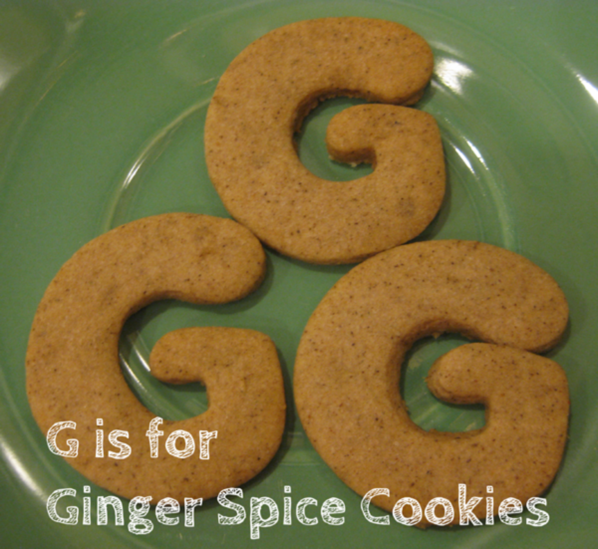 G is for Ginger Spice Cookies