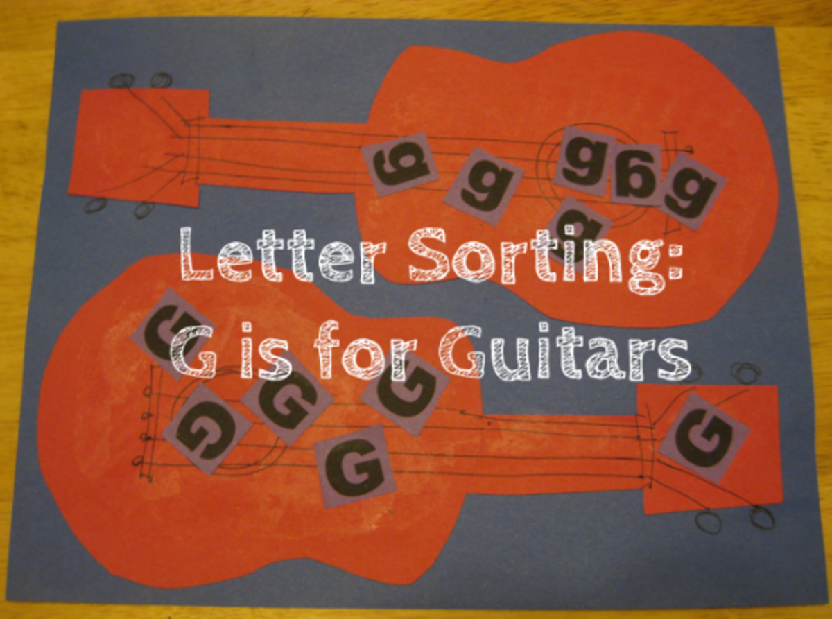 letter sorting g is for guitars alphabet activities for kids