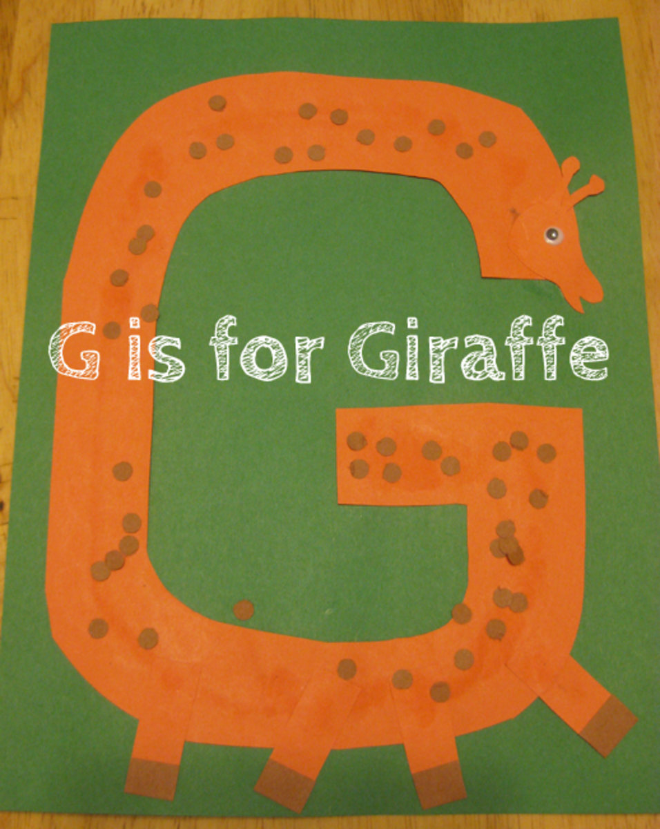g is for giraffe alphabet activities for kids