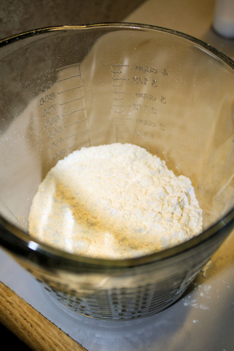 Separate Bowl With Flour Mixture.