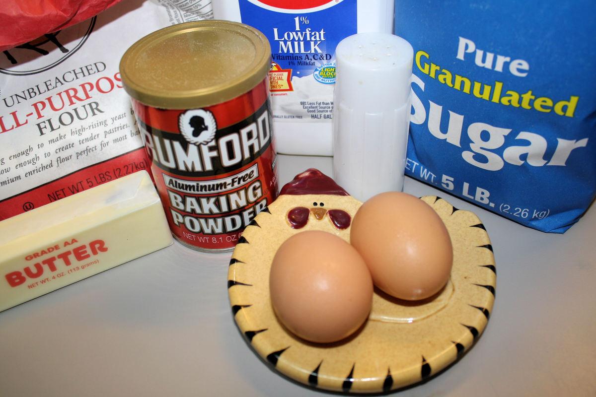 Hot Milk Cake Ingredients.
