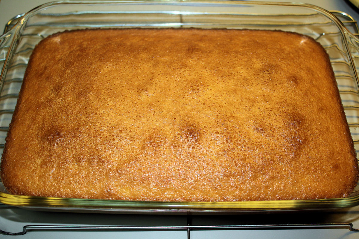 End Results: Hot Milk Cake.