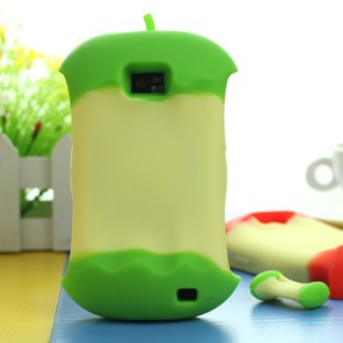 The apple core 3D silicone case for iPhone