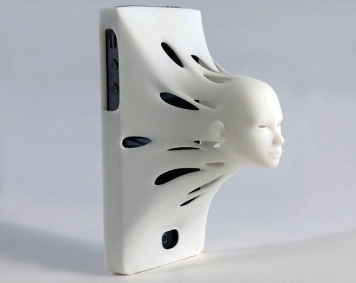 The modern art style fast face iPhone case