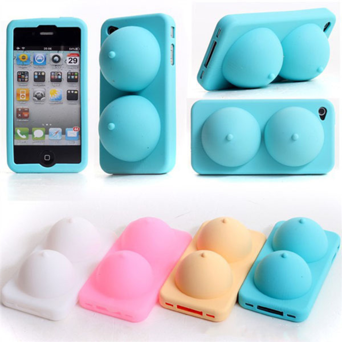 The 3D silicone breasts case for iPhone
