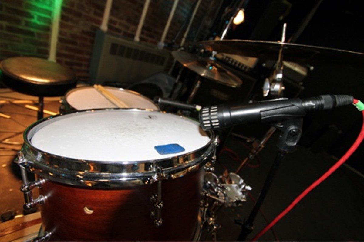 ... Just like the top of the snare drum.