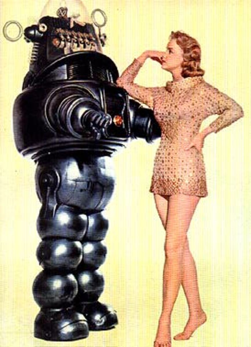 Robby The Robot Pinup Art
