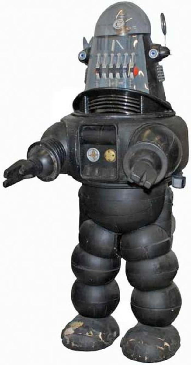 Robby The Robot With one  Scanner Ring