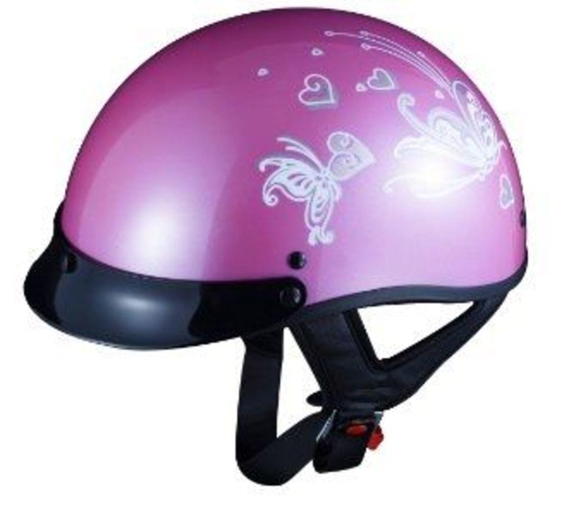 pink butterfly ladies helmet