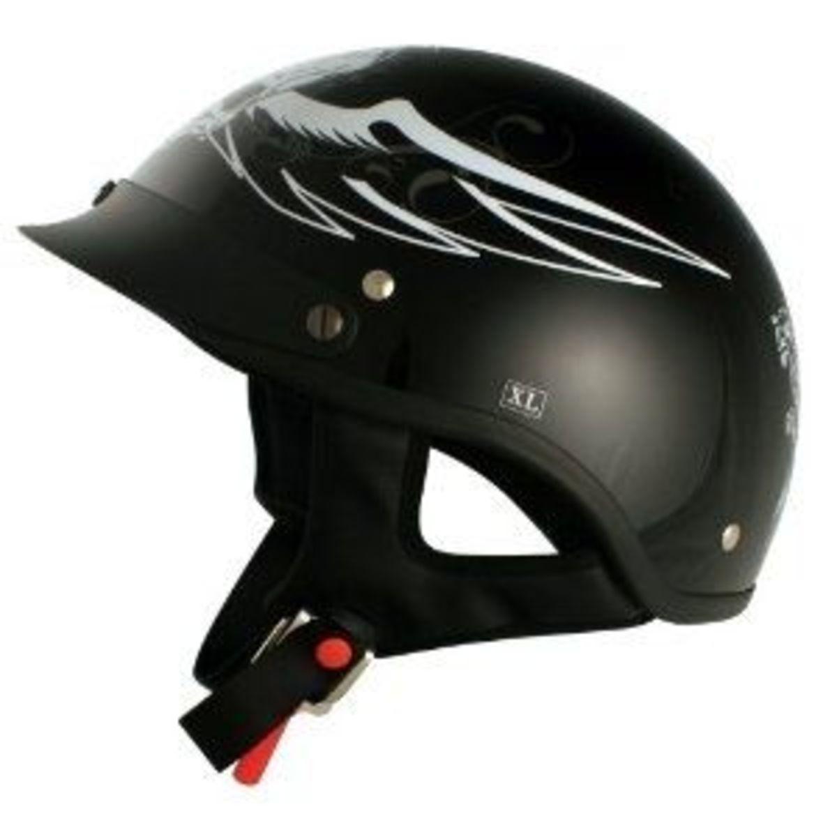 dark angel chopper helmet