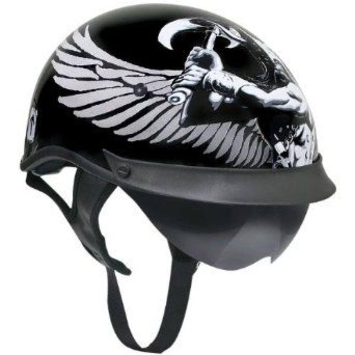 outlaw chopper half helmet