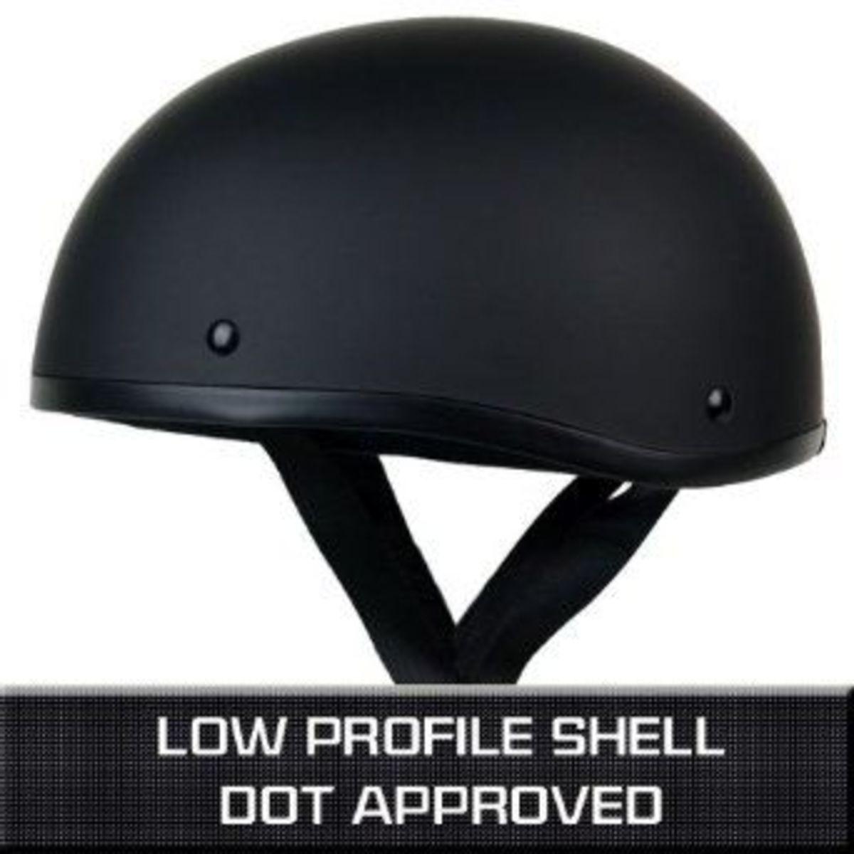 low profile half helmet