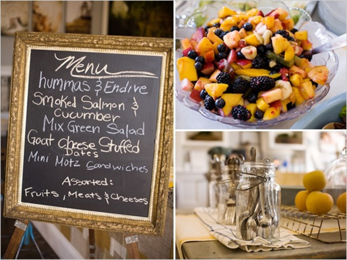 The Bridal Shower Part III:  Menu Ideas