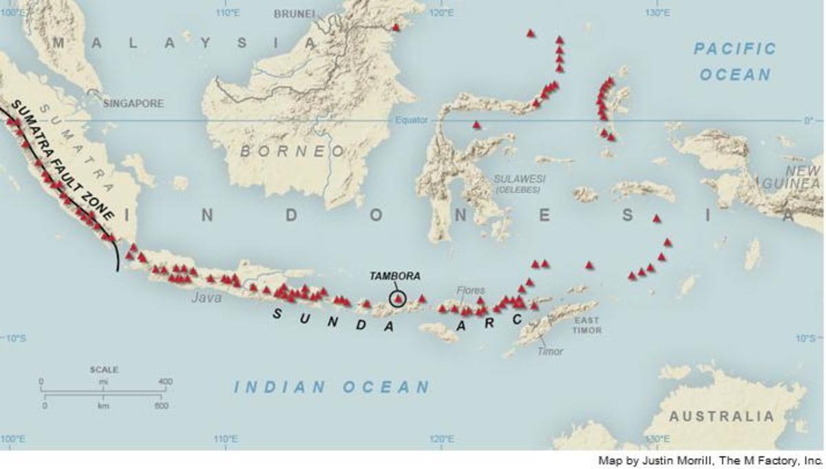 Location of Tambora in the Indonesian Archipelago