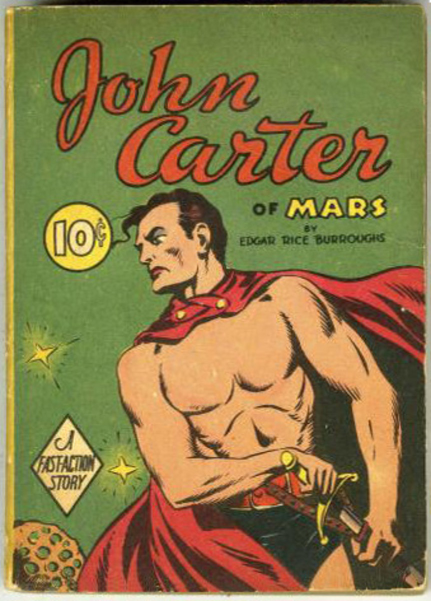 John Carter Of Mars is a character in a series of books written by Edgar Rice Boroughs. This series is widely recognized as an early precursor to modern steampunk.