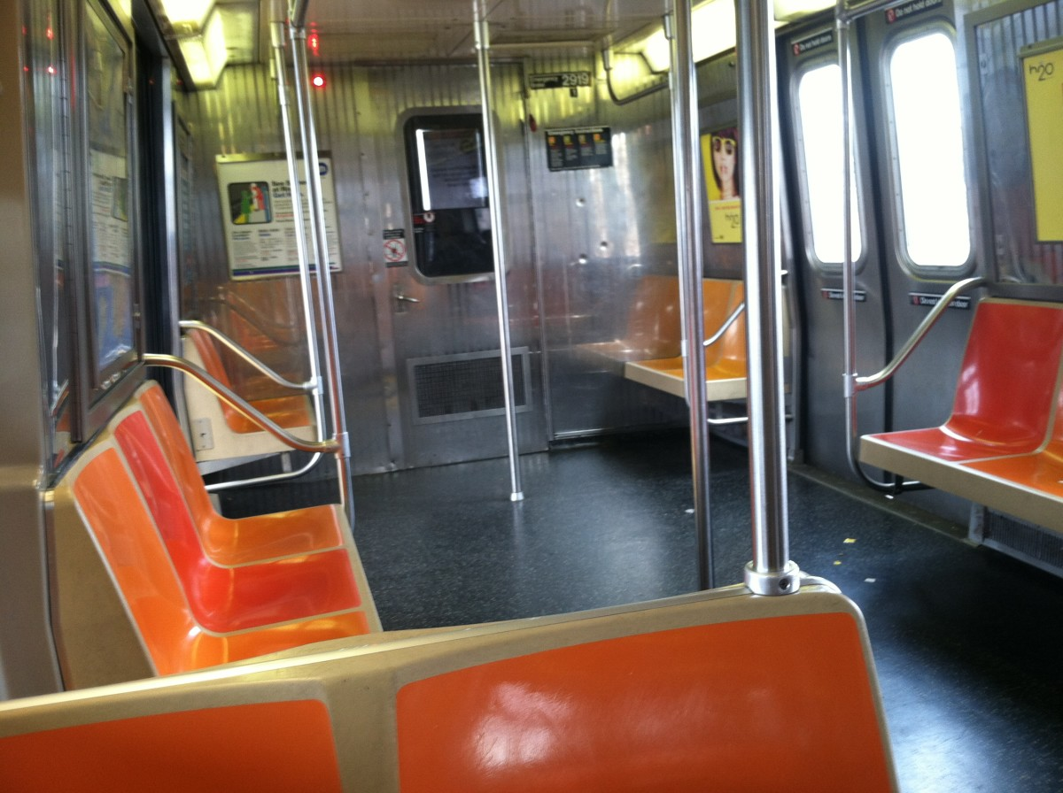 Empty, like the inner life of an overly extroverted person.  (Subway, NYC)