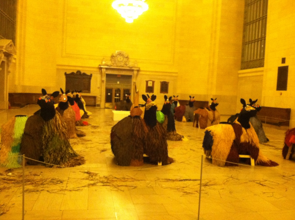 Here is some weird camel art, probably made by an introvert.  (Grand Central Station, NYC)