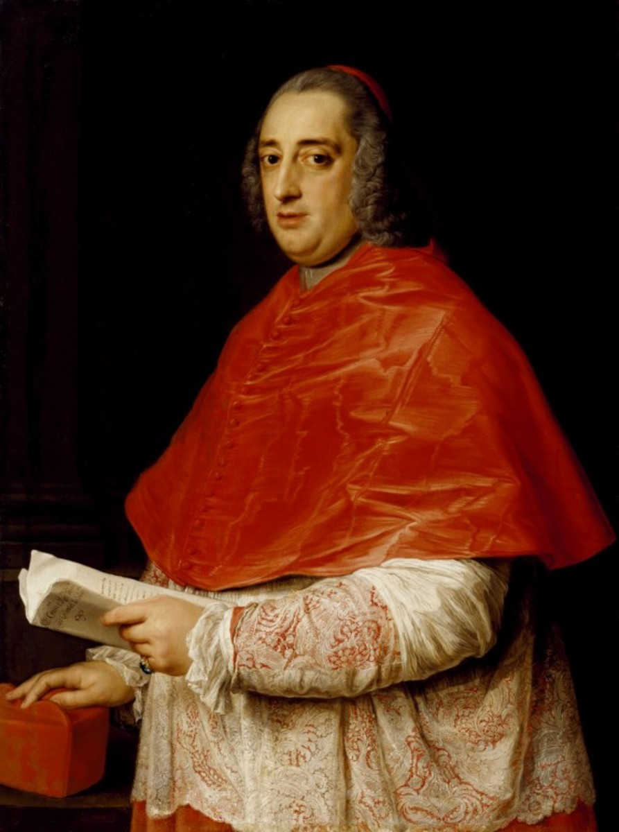Portrait of Cardinal Prospero Colonna di Sciarra (1708 - 1765) by Italian painter Pompeo Girolamo Batoni (1708-1787).