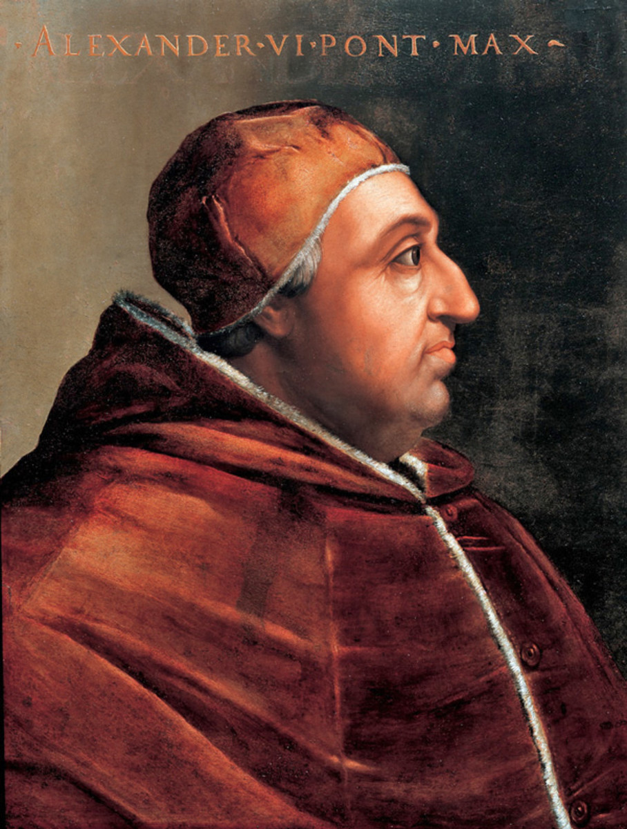 Pope Alexander IV; Pope from 1492 - 1503.