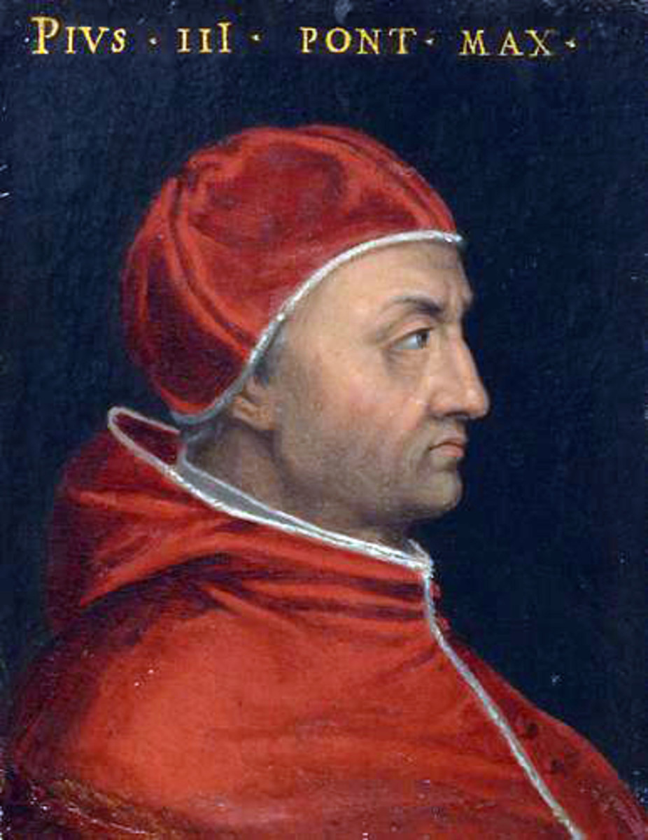 Pope Pius III; Pope from 1503 - 1503.