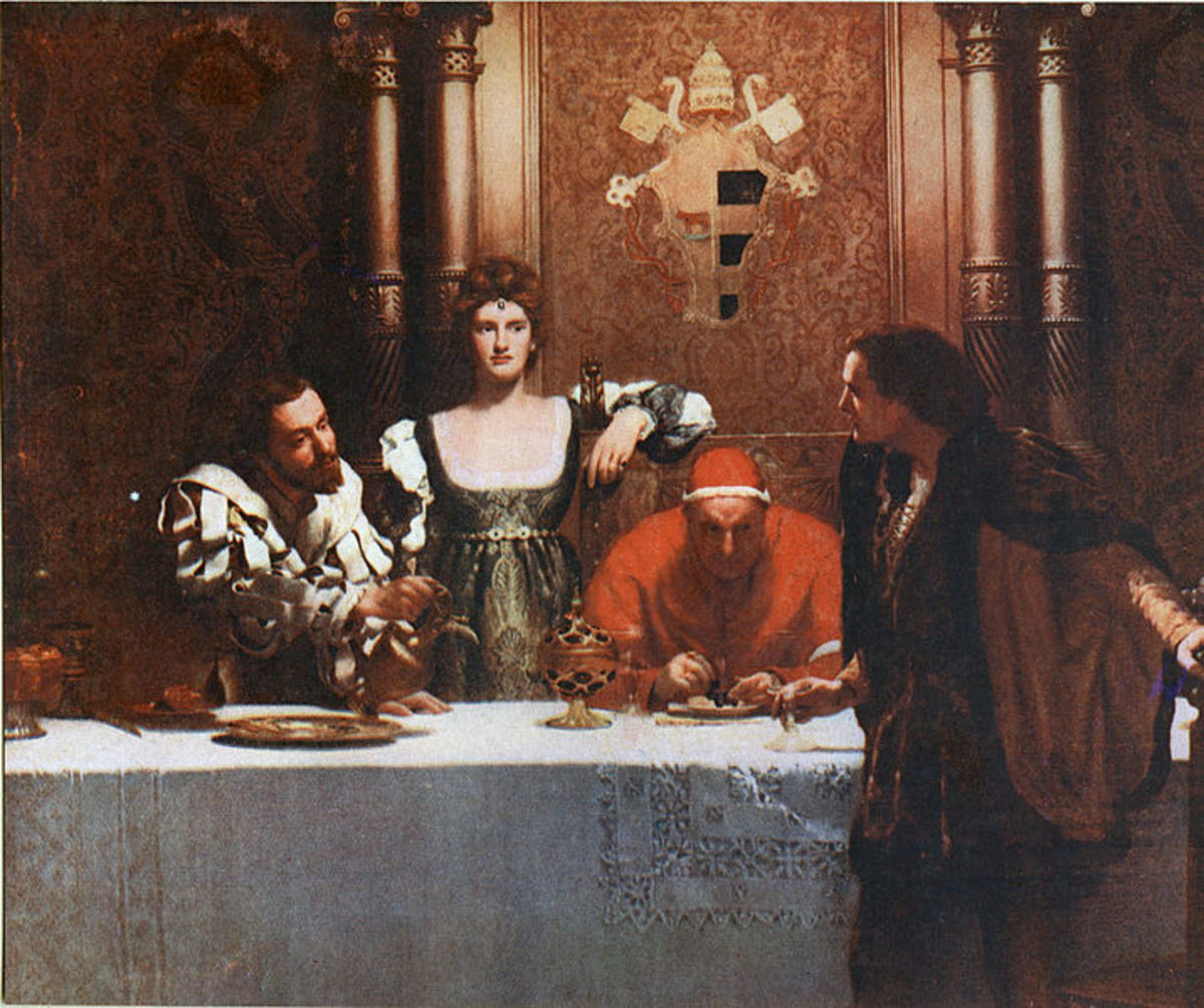 A Glass of Wine with Caesar Borgia, painted in 1893.