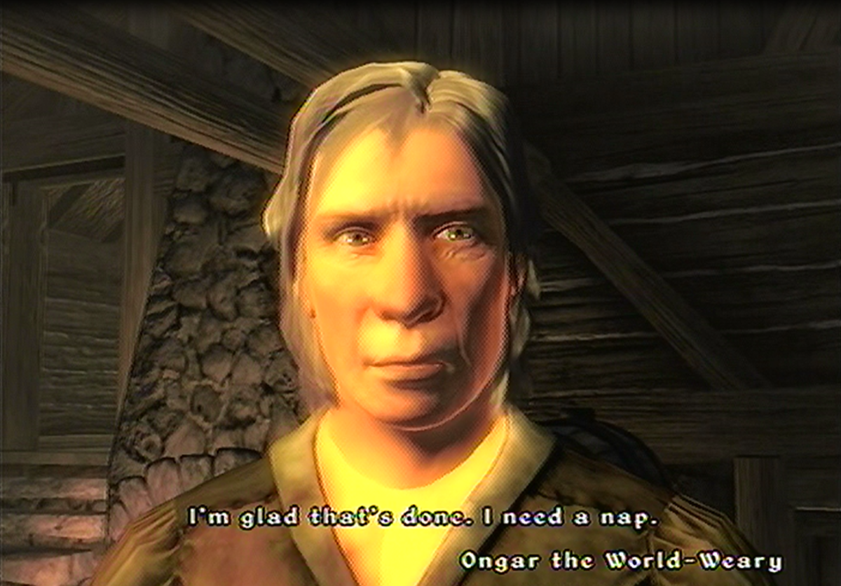 The Elder Scrolls 4 - Oblivion: Reasons why Ongar the World-Weary won't trade anymore