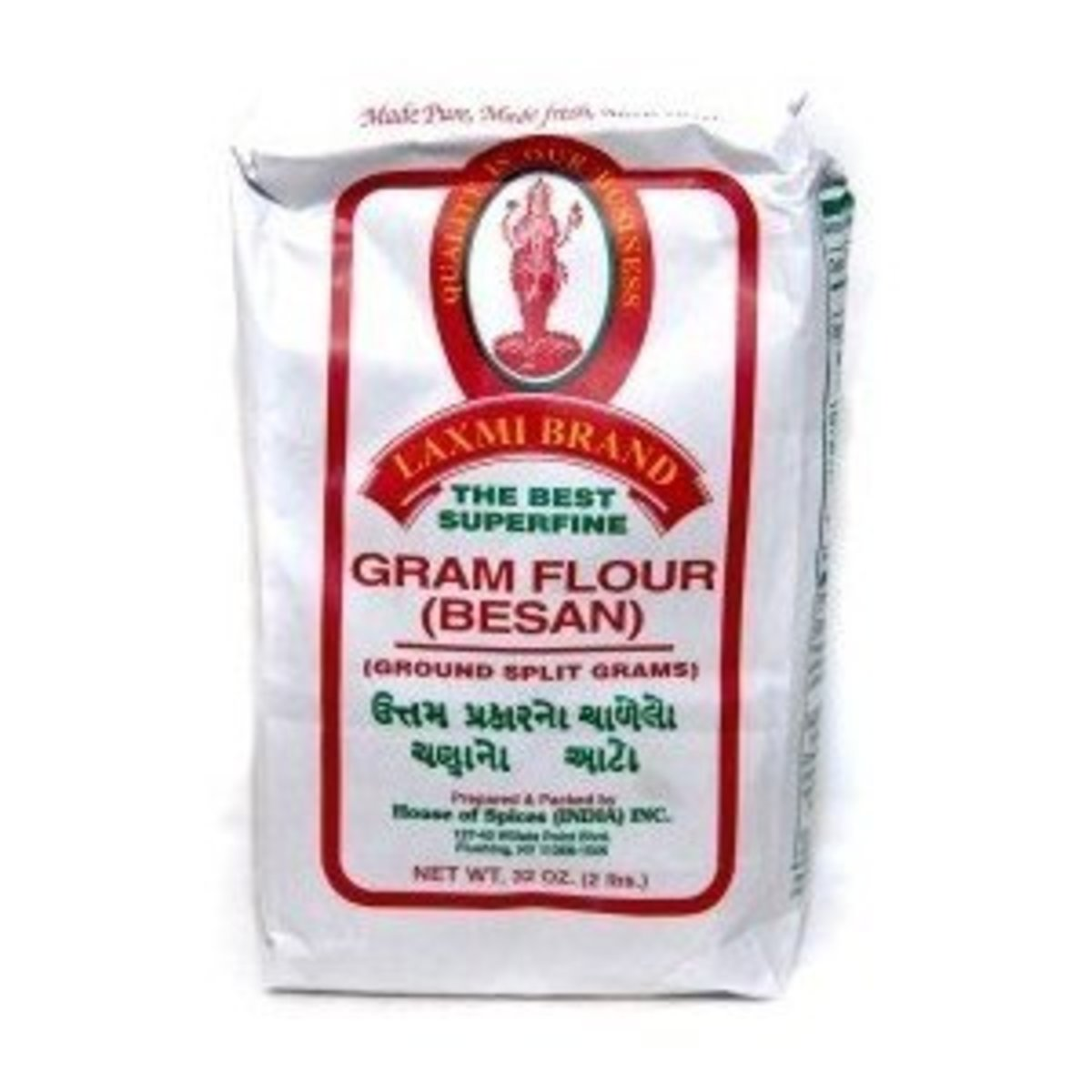 Besan or gram flour is commonly used in Indian dishes