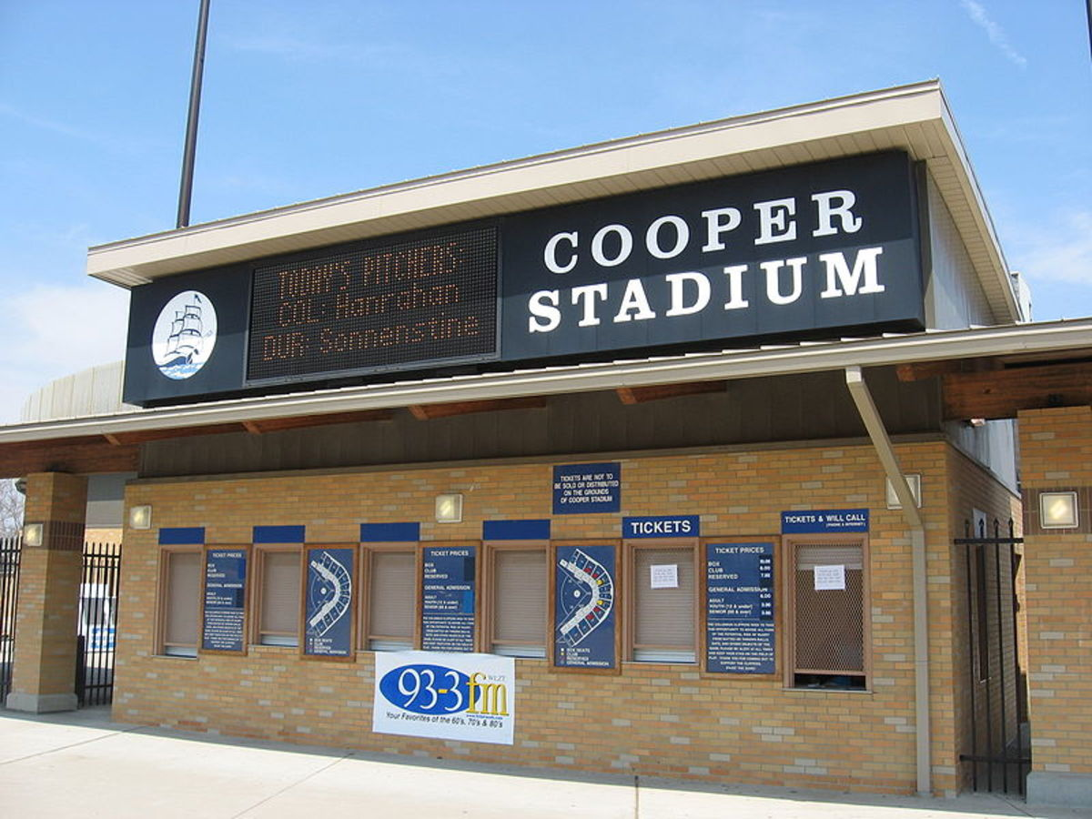 The ticket office. Cooper Stadium closed in 2008, the ball teams transferring to Huntington Stadium in the new Arena District.