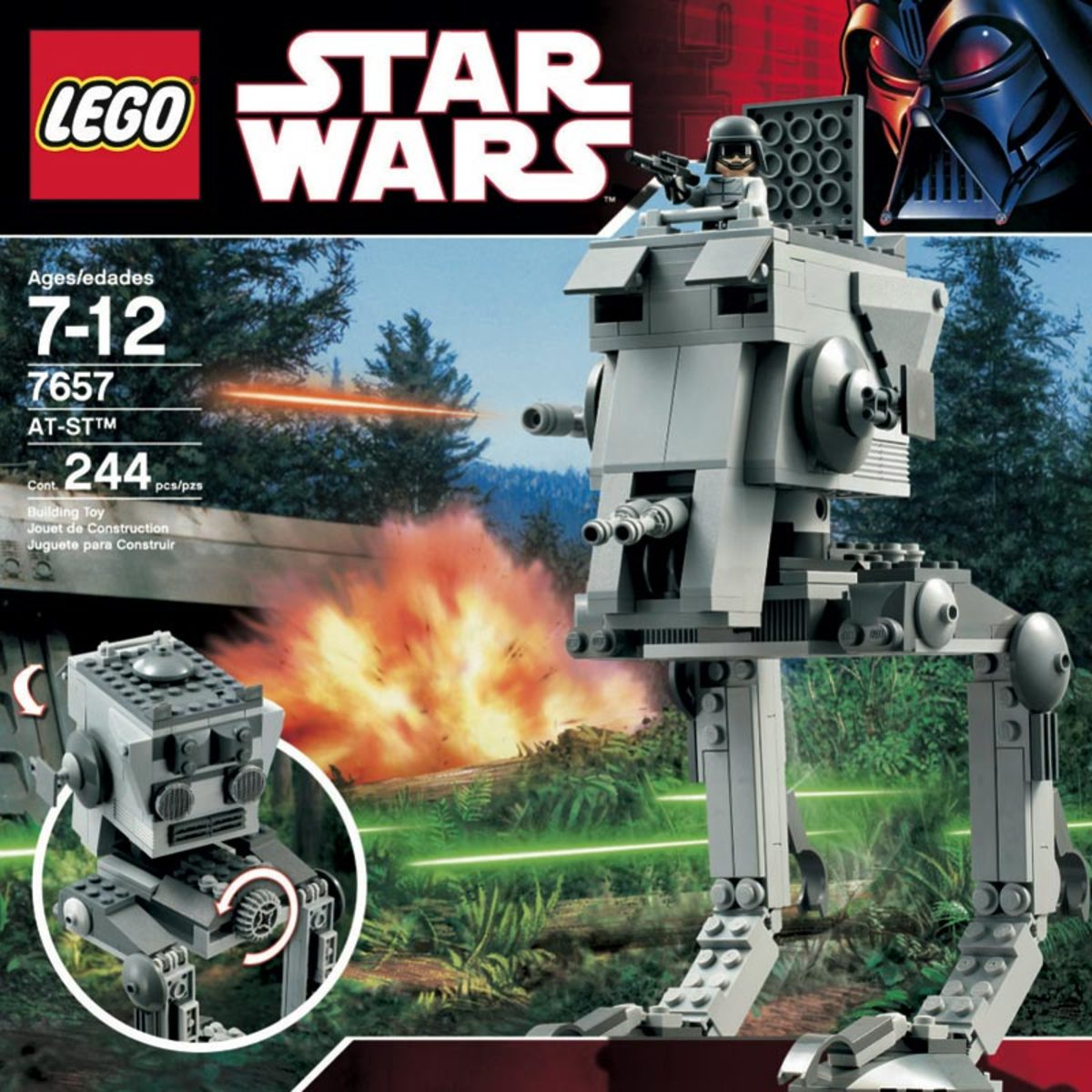 LEGO Star Wars AT-ST 7657 Box